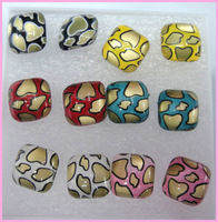 Free shipping plastic hot sale square  Stud earrings 60paris/lot