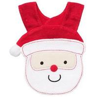 Hot Sale12pcs/Lot Christmas Gift For Baby Cutebell Santa Claus Bibs3Layer Cotton Bib Elk Design Waterproof,Baby Feeding Soft Bib