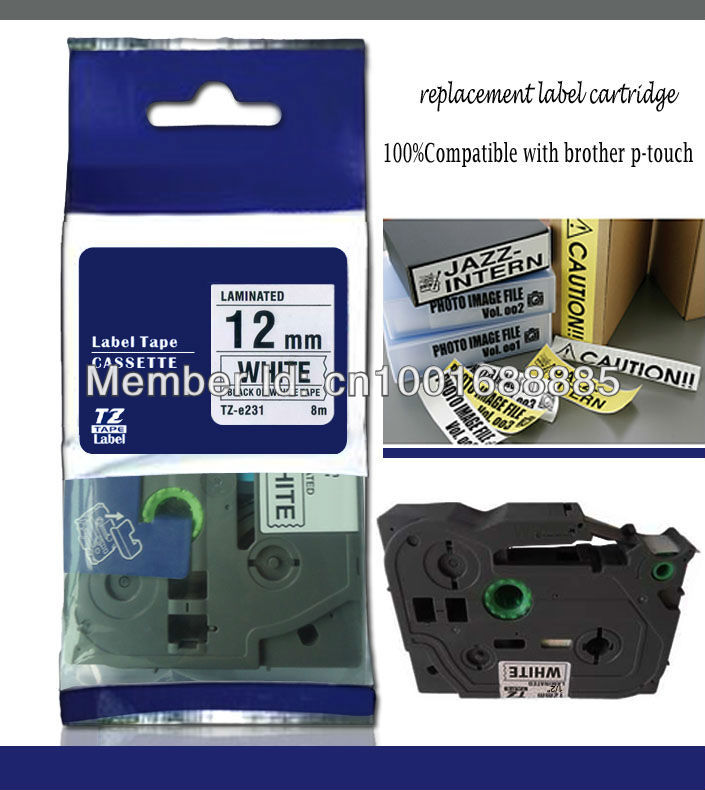 Brother p Touch tz Tape tz 231 4 Value Pack Yoko Brand Tz231 tz 231 Tze231 12mmx8m Compatible p Touch tz Tape Label