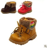 free shipping new winter boots shoes boy baby girls  boots cotton shoes PU baby boots for children