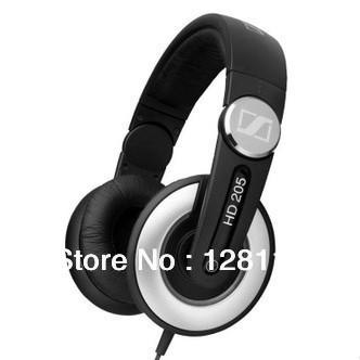 Boxed!! Genuine Original HD205 Deep Bass Noise Cancelling Monitor DJ Studio Rotatable Hi-Fi Stereo Dynamic Headphones Earphones(China (Mainland))