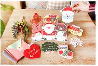 wholesale Christmas GIFT  Christmas season 2014 organ folding Christmas cards   free shipping