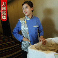 (10pcs-free ship) Work wear autumn and winter cleaning service long-sleeve work wear uniform female  Work wear