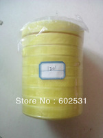Free Shipping-1201-Yellow-solid color 13mm satin ribbons belt gift packing wedding decoration 50yards/roll 10 rolls