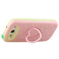 Newest 3D Cute Stawberry Design Stand Case Cover Skin For Samsung Galaxy S3 i9300 ,Free Shipping+Retail