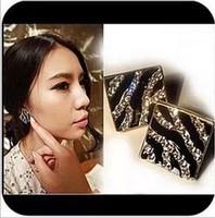 Min.order is $10 (mix order) Free Shipping women fashion stud earrings Zebra leopard  Earrings