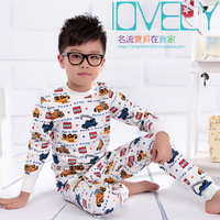 Autumn boys/girls clothing 100% cotton underwear kids long-sleeve cotton thermal underwear sleep sets long johns for children
