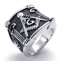 Freemasonry Ring with The Free Mason's Symbol Accessories square ring 10022224 titanium stainless steel skull ring