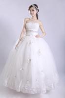 2013 new arrival elegant tube top crystal beads luxurious elegant wedding dress formal dress