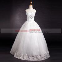 2013 tube top wedding dress crystal luxury wedding formal dress bride white yarn laciness lace