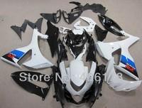 Free shipping,GSXR1000 09-12 Fairing kit For Suzuki GSX-R1000 2009-2012 White and Blue Stripes moto Fairings (Injection molding)