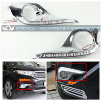 Factory direct sales Free Shipping Toyota Highlander DRL 2012 LED Daytime Running Light,With LED Turn Light