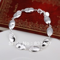 Free Shipping  925 Silver bracelets & bangles For Women  Gem-set earplugs bracelets & bangles 8 inchs