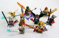 Free shipping 9 pieces/lot High quality Ninjago Chima Building blocks Figure Toy for the Christmas Gift
