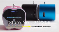Free Shipping,T-2012 Music Mini MP3 Speaker MP3 Player Support USB Micro SD Card FM Speaker 3in1,30pcs/lot