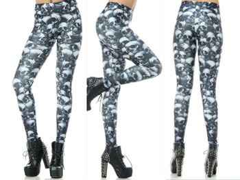 Sexy Модный 2013 Женщиныs Pirate Costume Leggins Galaxy Брюки Digital Printing Fun ...