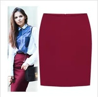 Free Shipping 2013 Short Skirt, Female Slim Hip Woolen Short Step  Skirt  high waist skirt