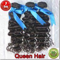 6A 100% unprocessed Queen hair virgin Peruvian hair weaving deep wave 3 bundles / lot ,virgin human hair sale