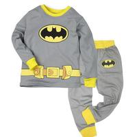 Children autumn -summer Sports Clothing Boys Batman Pajama Sleepwear Outfits Tops + Trousers Sets 2-7 Y