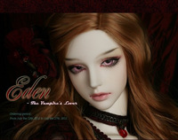 Free shipping DHL soom eden sd / bjd doll volks doll idealian luts(include makeup and eyes)