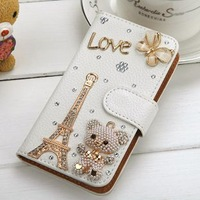Rhinestone 3D case for samsung galaxy grand duos I9082 new arrival luxury design free shipping