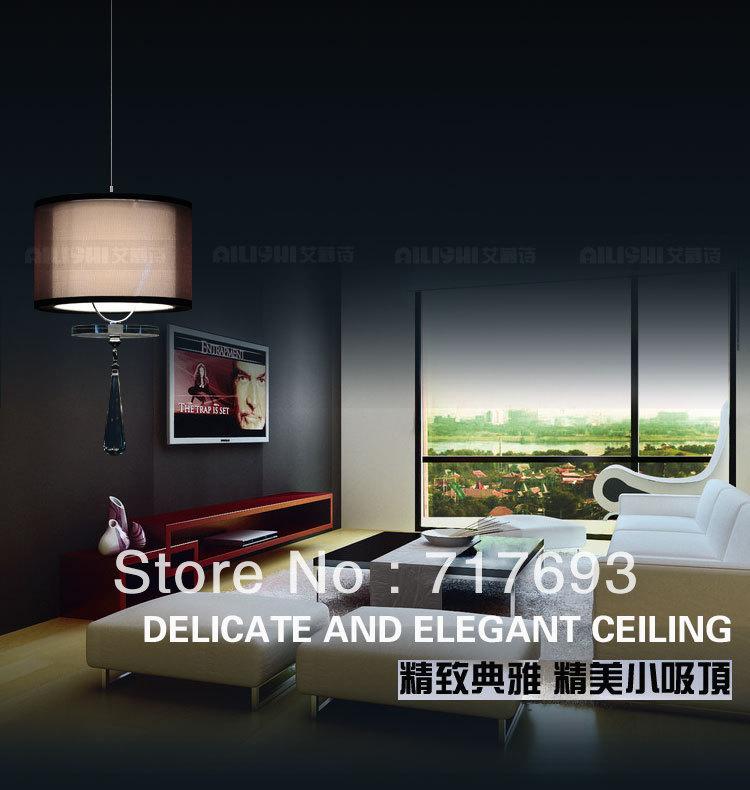 Livraison gratuite lustre en cristal ronde minimaliste moderne salle à manger salle de lit couloir lampe 1 lumières.