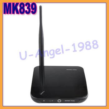 Original New MK839 android 4.2 dual core RK3188 TV box built in Bluetooth 4.0 2mega camera mic AV HD box mini pc android