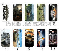 pictures 10PCS/LOT(10style) world of tanks hard case back cover for iPhone 5 5th 5S+free shipping
