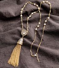 New Styles 2015 Fashion Jewelry  Elegant Imitation Pearls Tassel Necklace Christmas Gifts(China (Mainland))