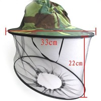 hot-sale Cheap Midge Mosquito Fly Insect Hat Fishing Camping Mask Face Protect Cap Cover free shipping