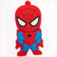 Spider Superman modle USB 2.0 Enough Memory Stick Flash Pen Drive 4GB/8GB/16GB /32GB