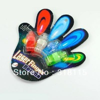Free shipping Multi-Color LED Party Light Finger Laser Beam Torch Ring Christmas decoration
