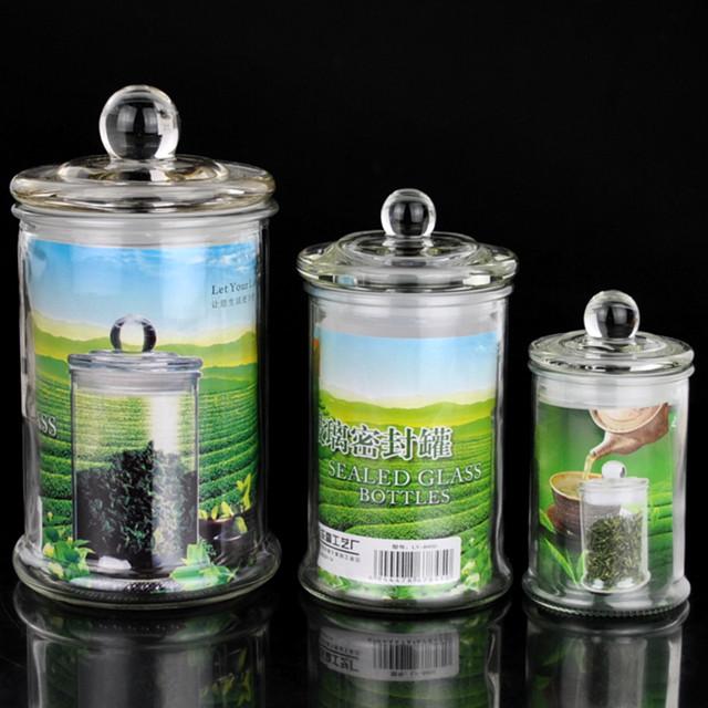 Prova de umidade tanque de armazenamento jar jar armazenamento de vidro vasilha chá caddy tanque de armazenamento de latas de leite garrafa de vidro(China (Mainland))