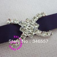 small shiny rhinestone buckles for wedding invitations, diamante ribbon sliders,DIY wedding supply, 150pcs/lot