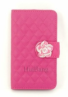 Luxury Flip Wallet Card Bling Diamond Rose Magnetic Stand Leather Cases Cover For Samsung Galaxy S2 II I9100 Ace S5830 Bags 0365