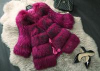 Fashion Women Genuine Raccon Fur Coat  Raccon Fur Jacket Real Fur Outerwear  TP9027