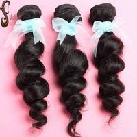 6A Grade Virgin Eurasian Hair Loose wave free shipping,3pcs lot can be dyed,no shedding no tangle Juliet virgin hair