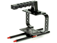 Slider Photography New Camera Cage with Top Handle Mounted Points Dslr Fits 15mm Rods for Video 5d Ii Iii 7d 60d 550d 30200198