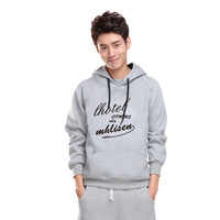 Male winter sweatshirt casual with a hood pullover sweatshirt male set lovers thickening outerwear men's clothing s082