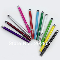 10pcs 2 in 1 function universal Capacitive Touch Pen Stylus Pen For iPad iPhone Samsung HTC Tablet PC Smart Phone etc free CN