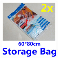 2 x Space Saver Travel Bags Vacuum Compression Storage Bag Bags Duvet Storage Bag 60x80cm