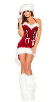 Free shipping ML8027 Newly Arrival Holiday Costume Sexy Mini Christmas Costume Skirt Lady Christmas Dress Costumes