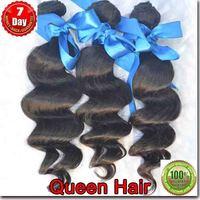 100% Unprocessed virgin hair,3 pcs/ lot 6A Queen Indian virgin hair, cheap  loose wavy remy hair , one donor hair free shipping