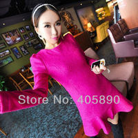 2013 Fashion Sexy Solid Color Long-Sleeved Fishtail Dress