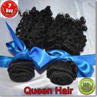 6A 100% unprocessed Queen hair Peruvian virgin  hair weaving deep wave 2 bundles / lot ,100% human hair free shipping