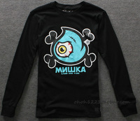 2013 new fashion Mishka print casual sports style men's clothes autumn winter long-sleeved t-shirt high quality o-neck