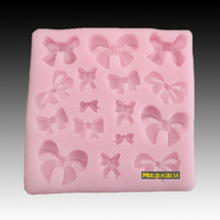 Free shipping Various of Butterfly Knots Soap Mould Silica gel mould handmade soap soap sugar multiporous bow resin flower