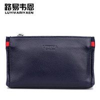 100% Leather Male bags brand ocean boutique men day clutch bag casual fashion handbags clutches