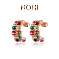 ROXI Christmas gift Imitate Genuine Austrian Crystals earrings,Gift to girlfriend is beautiful,Pure hand made,2020013360