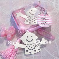 12pcs/lot Free Shipping Kid Shape Promotion Antique Silver Fashion Bookmarks Wholesale
